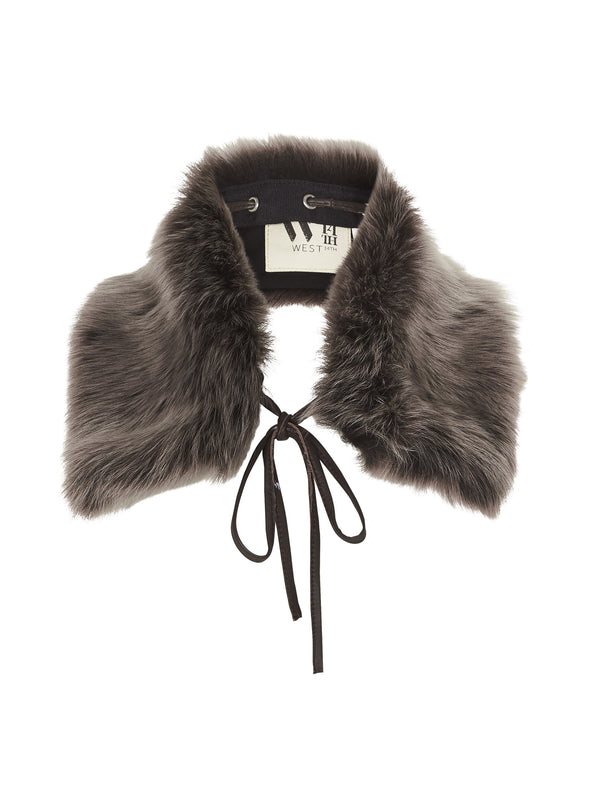 The Jersey Collar in Italian Long Hair Brown Shearling