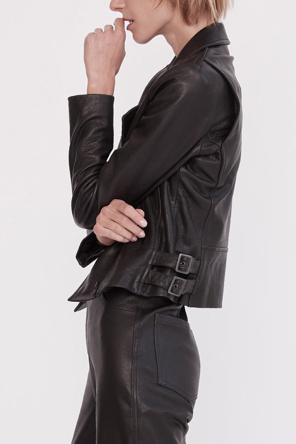 New Yorker Motor Jacket Black Leather