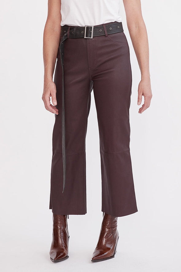 Prospect Pant Shiraz Stretch Leather