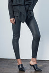 West Broadway Sleek Leather Leggings Charcoal
