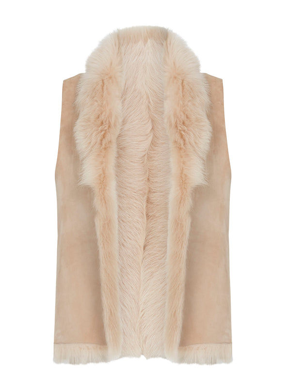 Bushwick Reversible Vest Blush Shearling