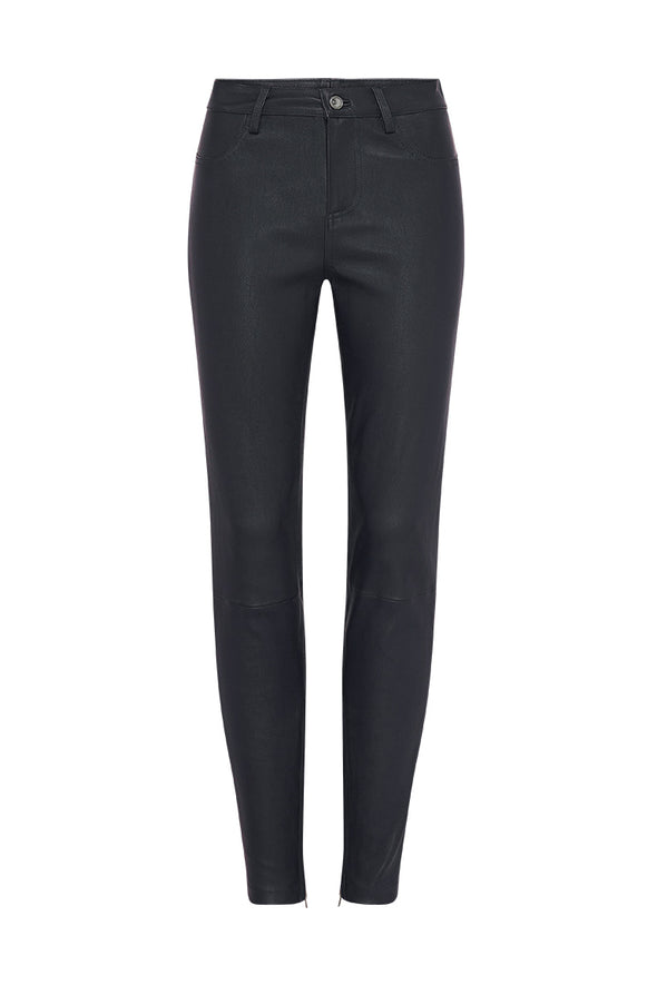 Houston High Rise Legging Black Stretch Leather