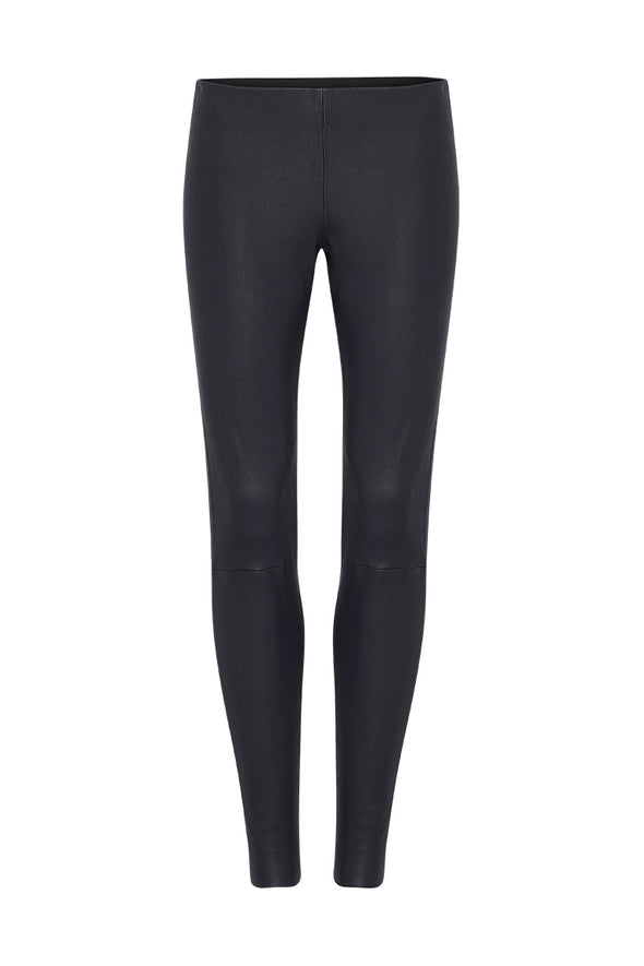 West Broadway Legging Midnight Navy Stretch Leather