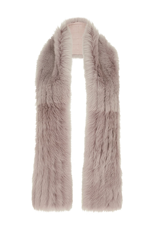 Upper West Shearling Scarf Taupe Shearling