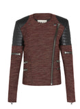 Greenwich St Motor Jacket Andean Orange & Black Leather