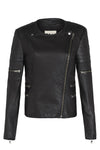 Greenwich Street Motor Jacket Black Leather