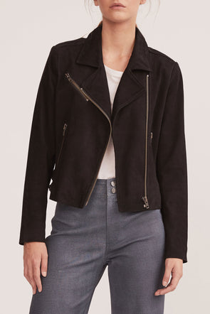 The New Yorker Motor Jacket Black Suede