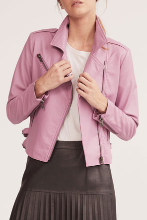 The New Yorker Motor Jacket Gomme Pink Leather