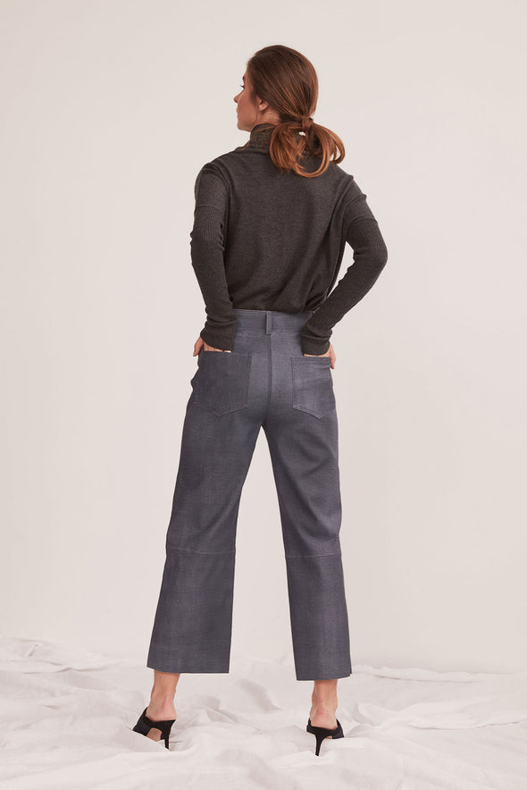 Prospect Pant Denim Blue Stretch Leather