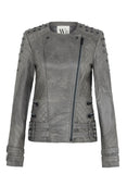 Park Slope Quilted Jacket Midnight Dust Leather with Studs