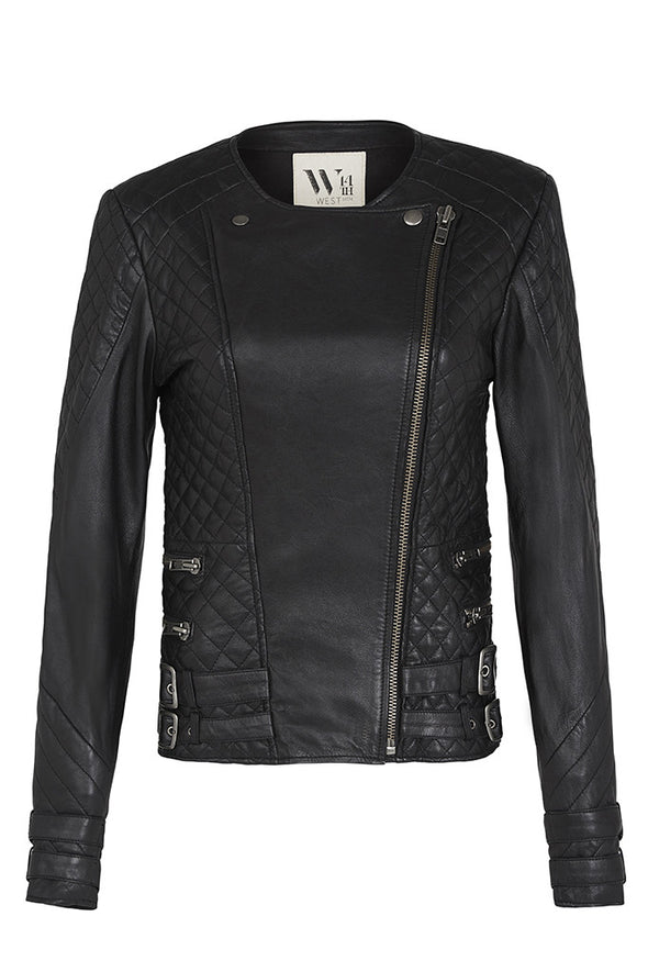 Park Slope Quilted Jacket Black Leather
