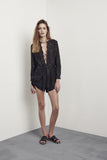 Glenayr Playsuit Riptide Black & Black Leather