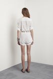 Glenayr Playsuit Cabana White & Sunkiss Leather