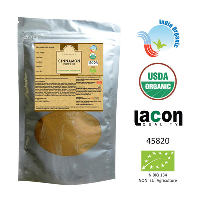 Organic Cinnamon Powder for Cholesterol, Type 2 Diabetes - 100 Gms