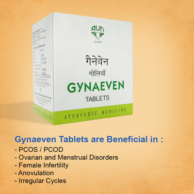 AVN Gynaeven Tablets for Ovulation and Menstruation - 100 Tablets