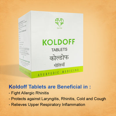 Koldoff for Influenza, Cold, Cough, Sore Throat - 100 Tablets