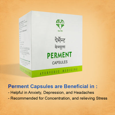 AVN Perment Capsules for Stress, Depression and Anxiety - 200 Capsules