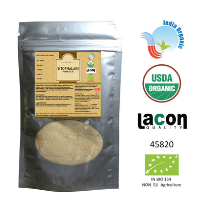 Organic Sitopaladi Powder for Bronchitis and Asthma - 100 Grams