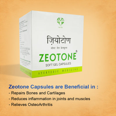 Zeotone Soft Gel Capsules for Osteoarthritis, Gout - 100 Capsules