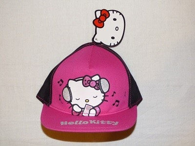 girls character hat/cap - Hello Kitty Black/Pink Cap For 4-8 Years