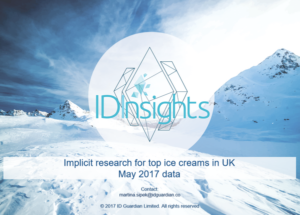 ID Insights report - top ice creams in UK