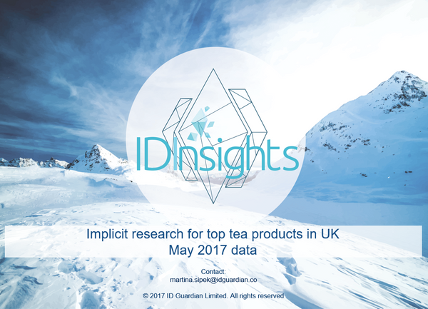 ID Insights report - top tea products in UK