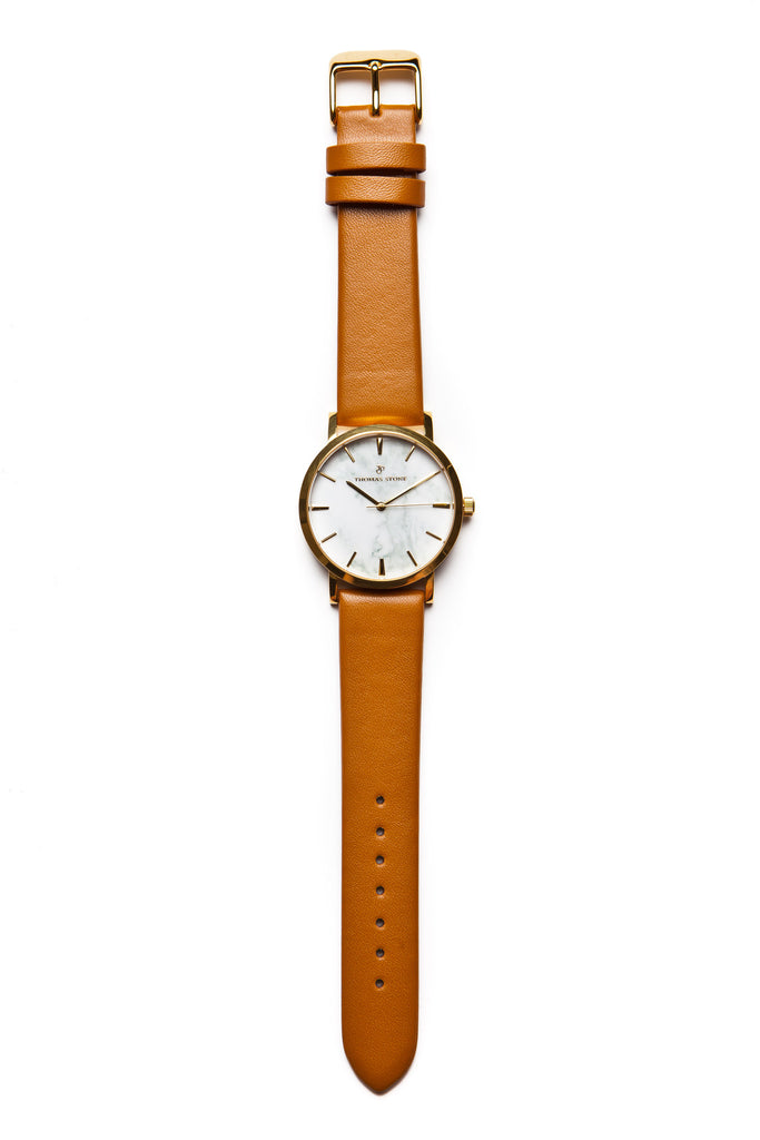 Thomas Stone Classic Marble Gold 38mm Watch - Thomas Stone™ Official Store - Icelandic design