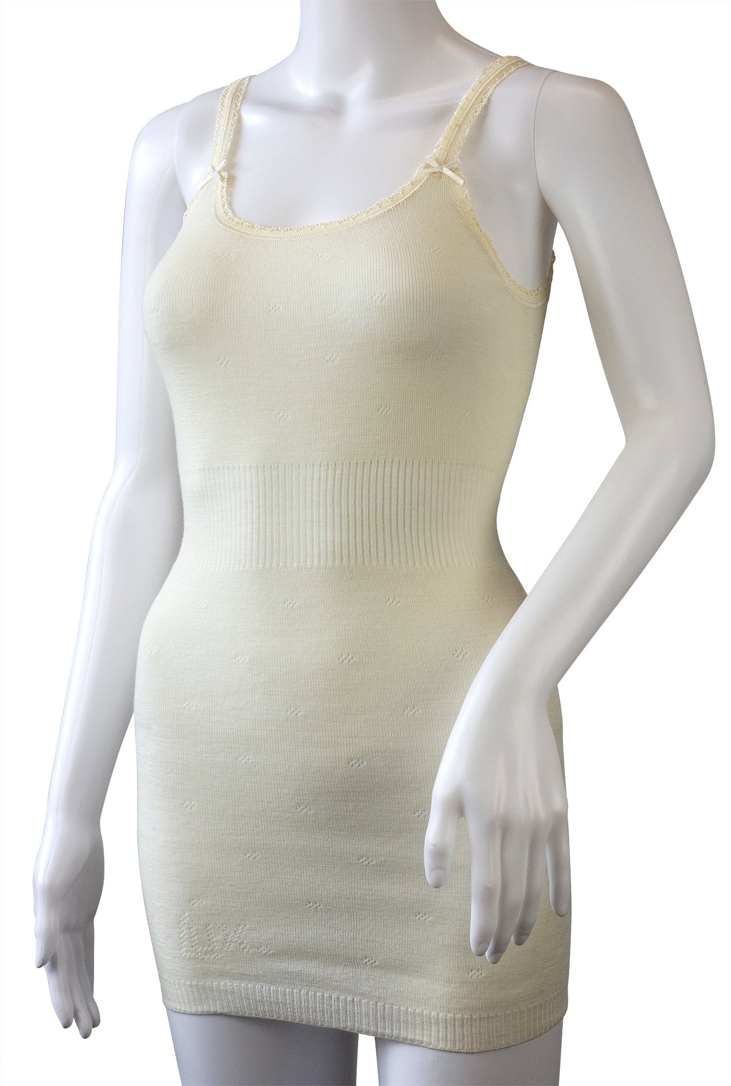 French Neck Vest, Cream