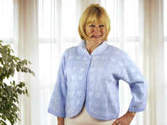 Lux Lux Ladies Brushed Thermal Bed Jacket in Blue