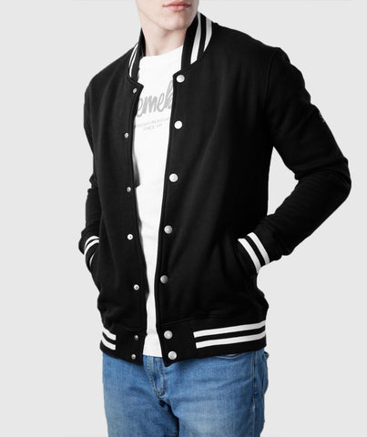 Varsity Organic Cotton Jacket Black