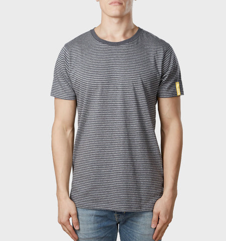 Core Organic Cotton T-Shirt Dark Heather Stripe