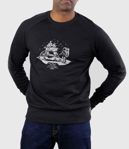 Apollo 11 Organic Cotton Sweatshirt Black