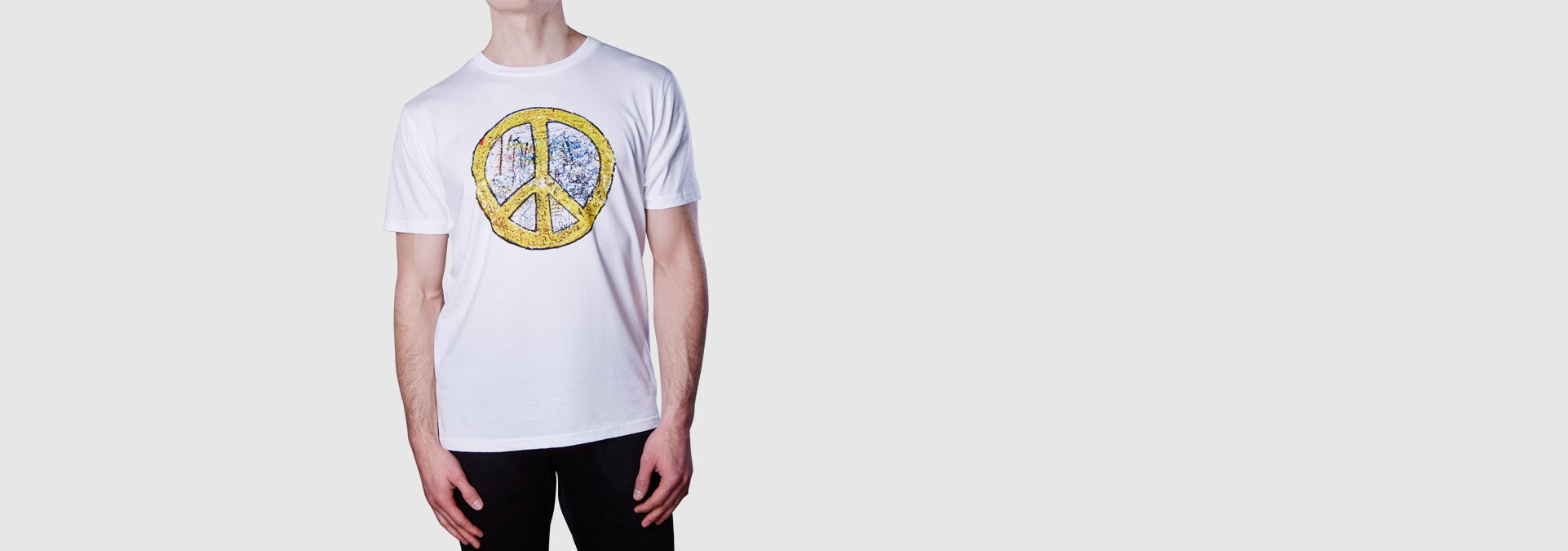 Peace Sign T-Shirt White