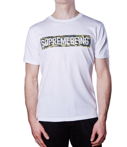 Supremebeing Camouflage Background T-Shirt White