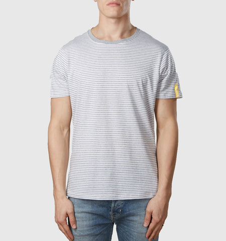 Core Organic Cotton T-Shirt Melange Grey Stripe