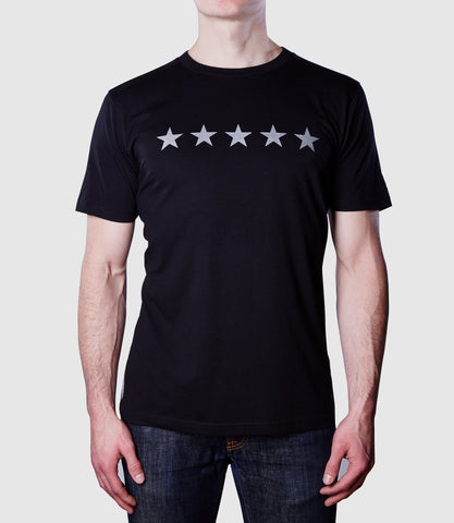 5 Star T-Shirt Black