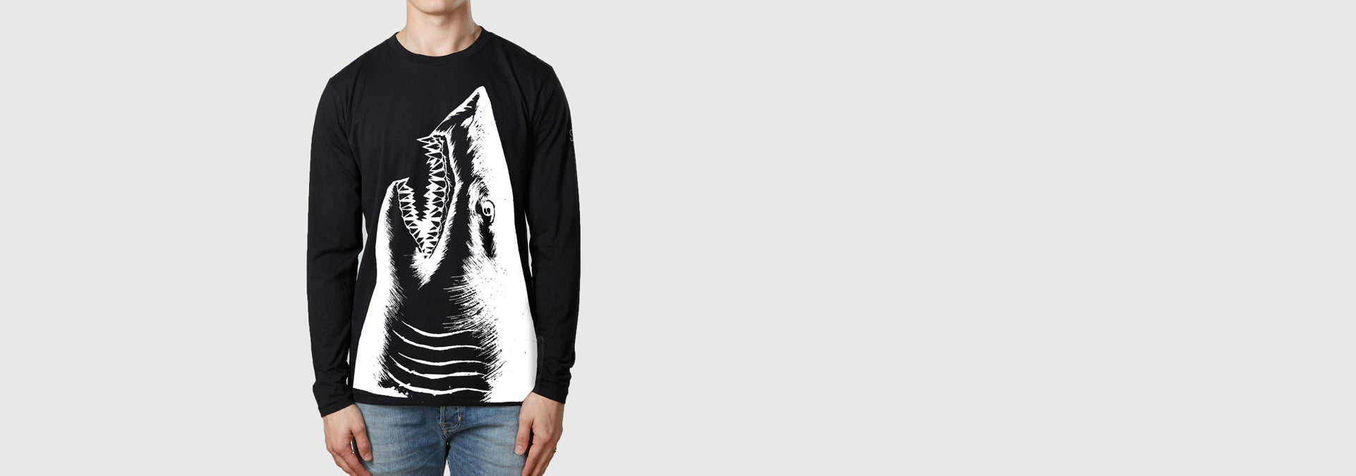 Shark L/S T-Shirt Black