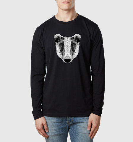 Badger L/S T-Shirt Black