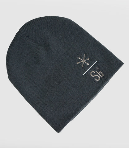 Sb Embroidered Beanie Grey