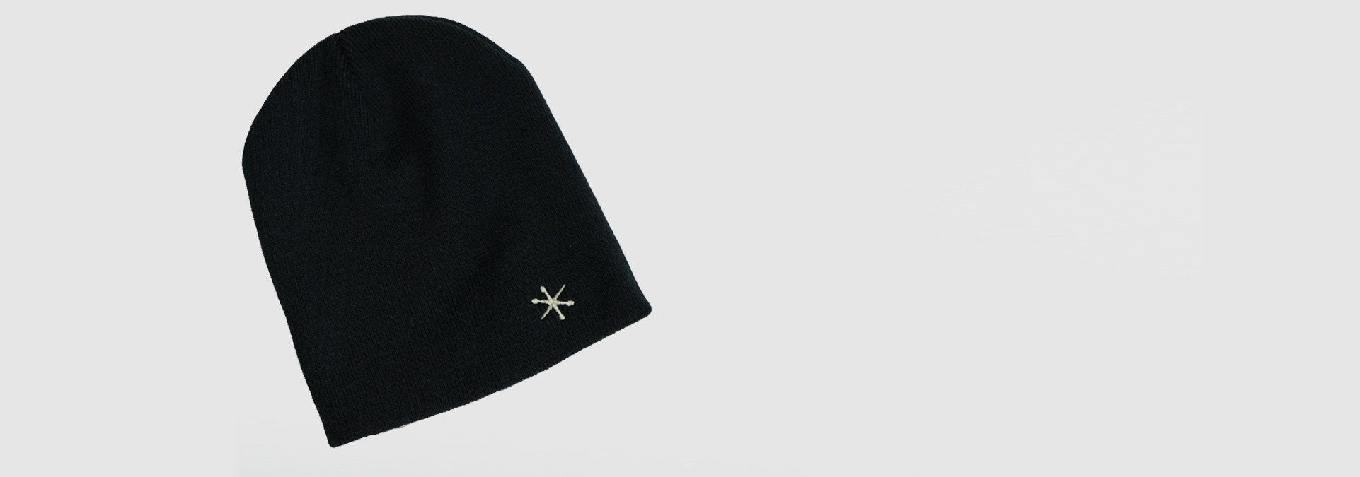 Spooknik Embroidered Beanie Black