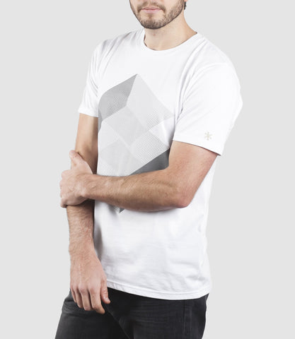 Geomet Step T-Shirt White