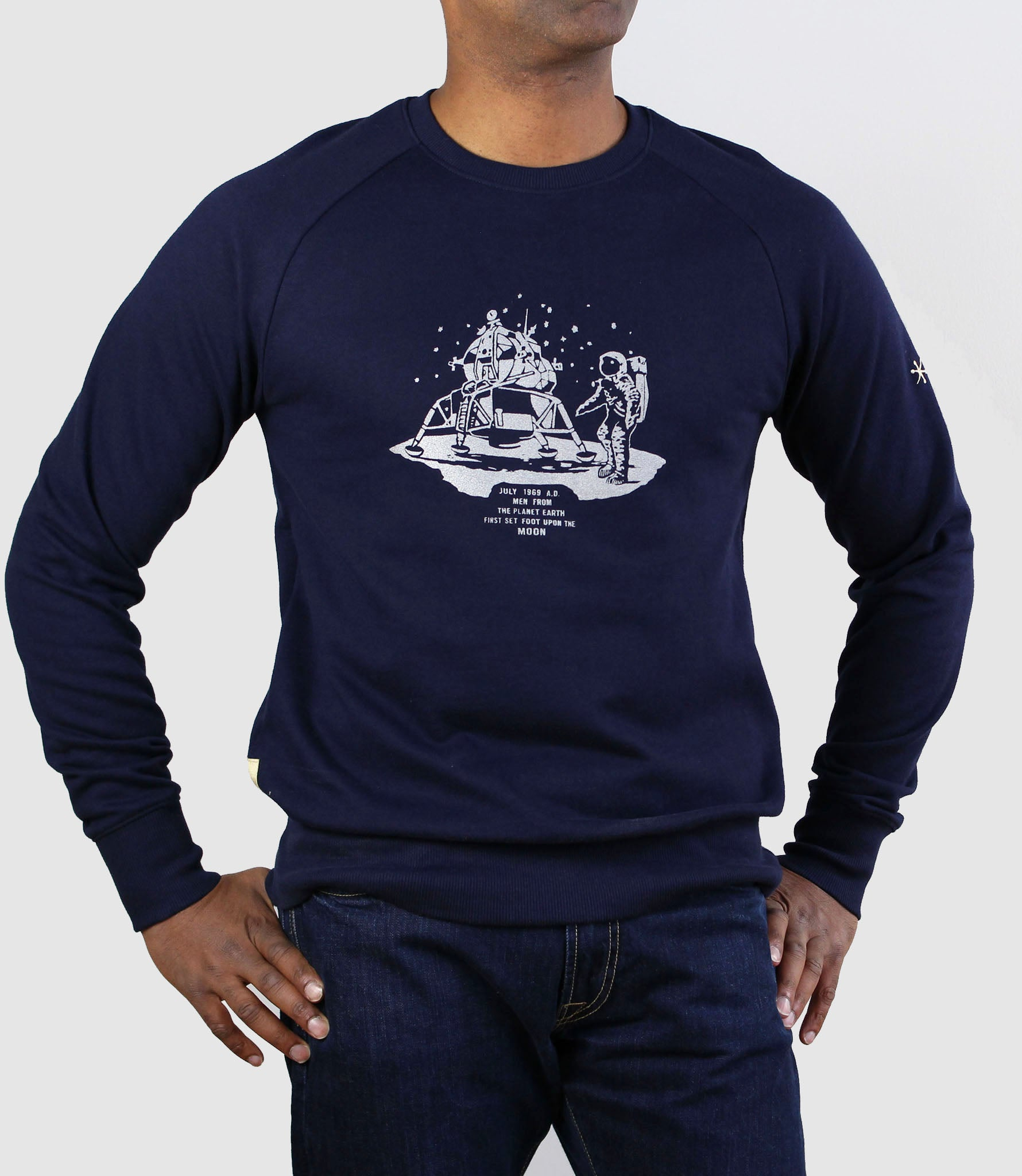 Apollo 11 Organic Cotton Sweatshirt Navy