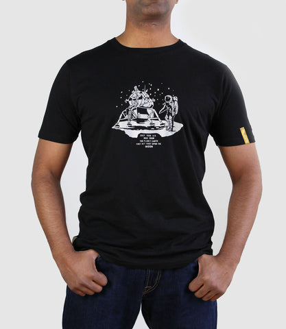 Apollo 11 Organic Cotton T-Shirt Black