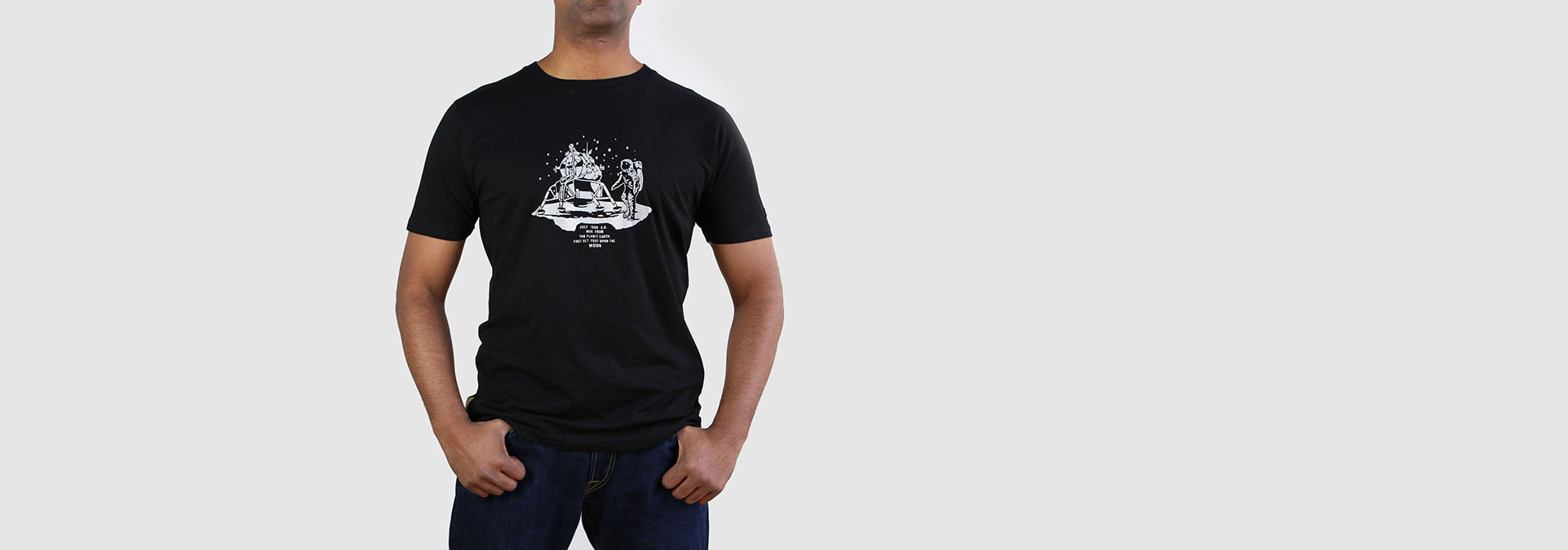 Apollo 11 Organic Cotton T-Shirt Navy