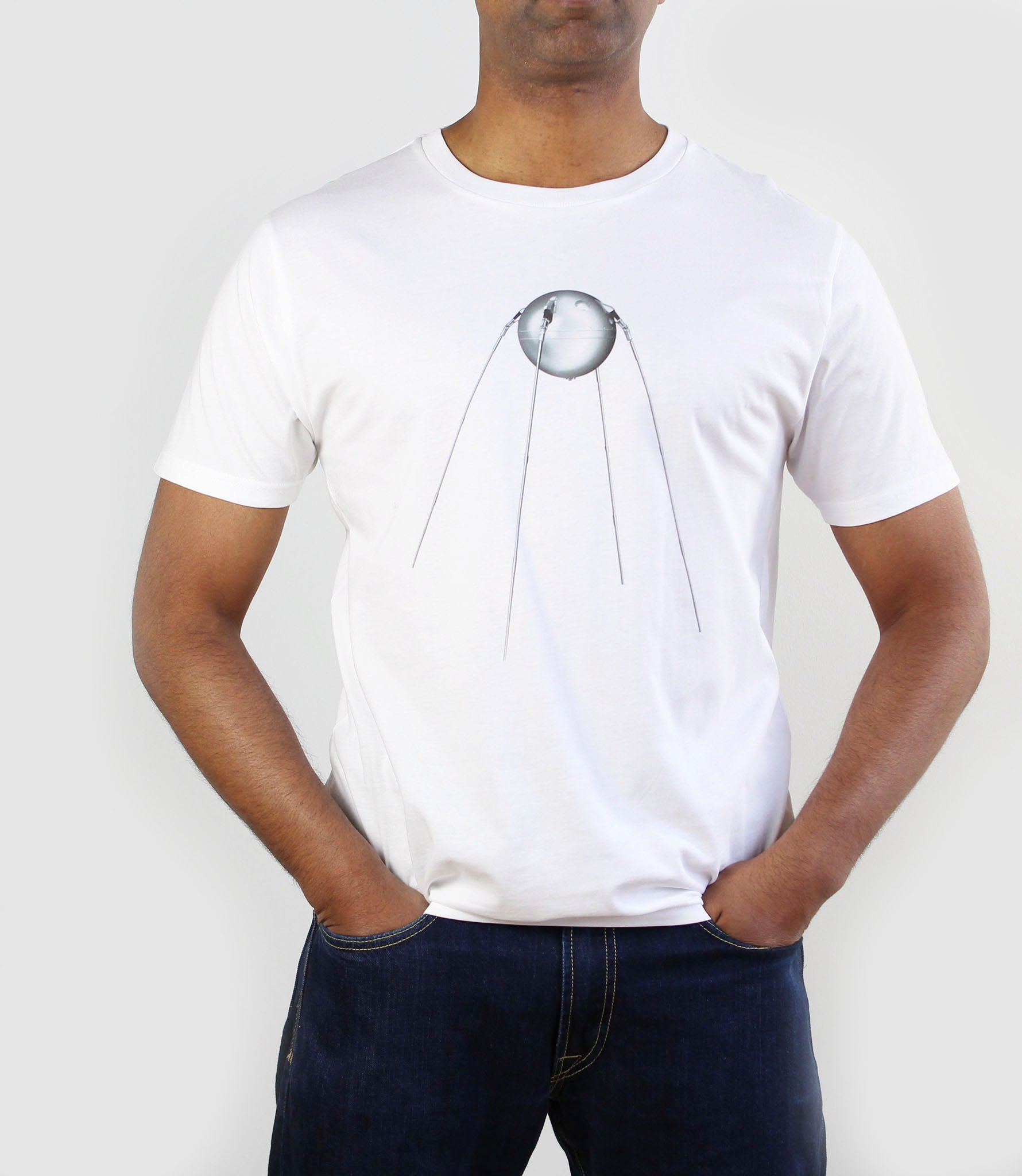 Sputnik 1 Organic Cotton T-Shirt White