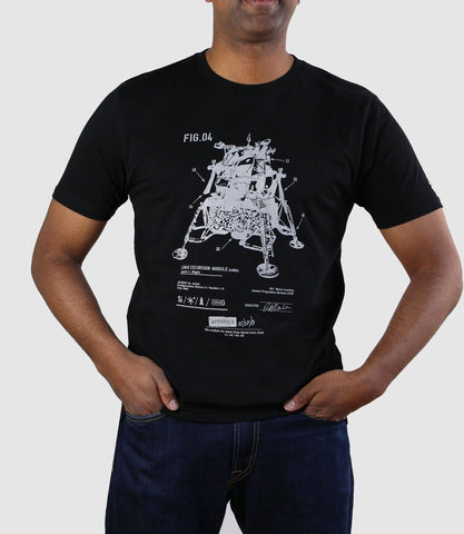 Lunar Excursion Module T-Shirt Black