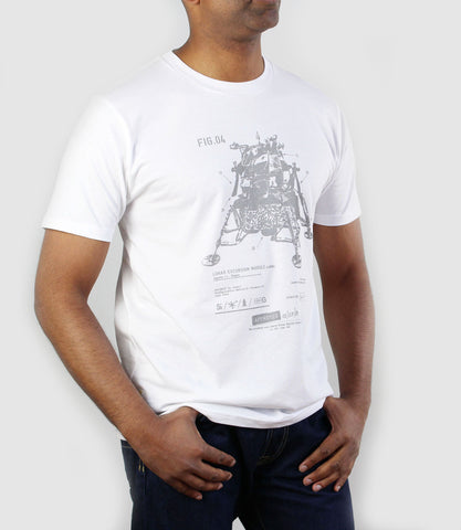 Lunar Excursion Module T-Shirt White