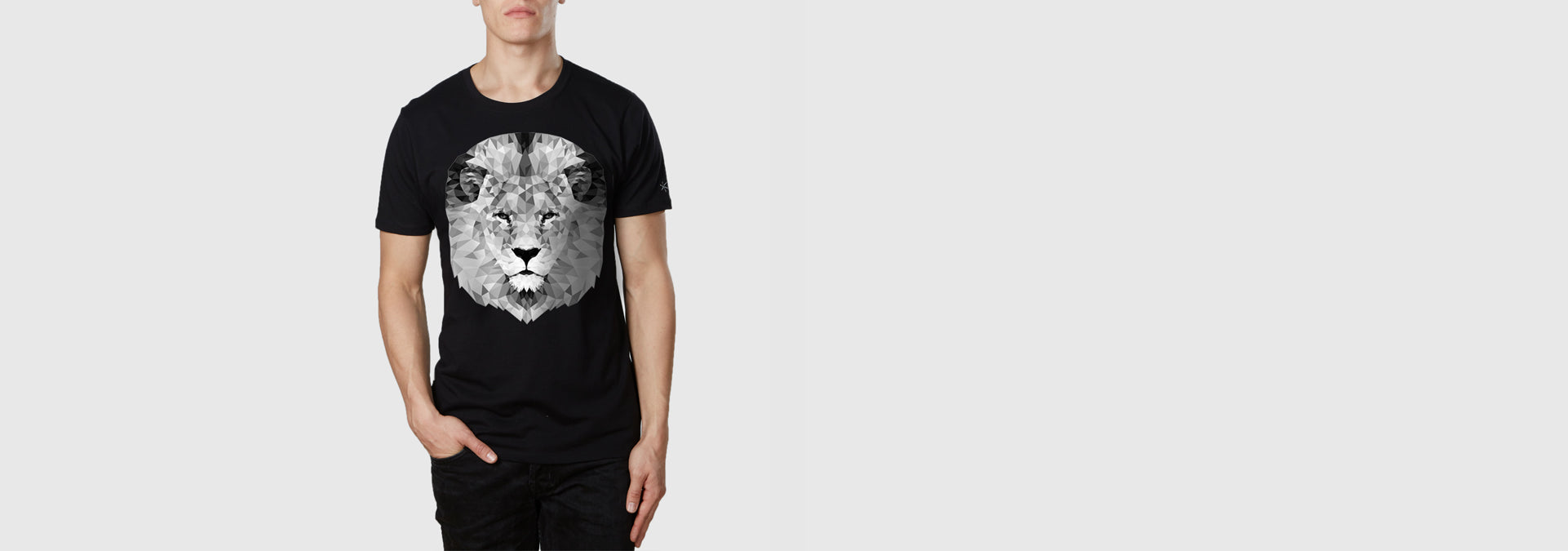 Mono Lion Organic Cotton T-Shirt Black