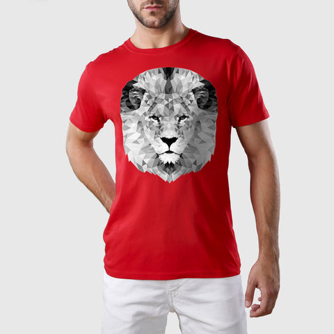 Mono Lion Organic Cotton T-Shirt Red