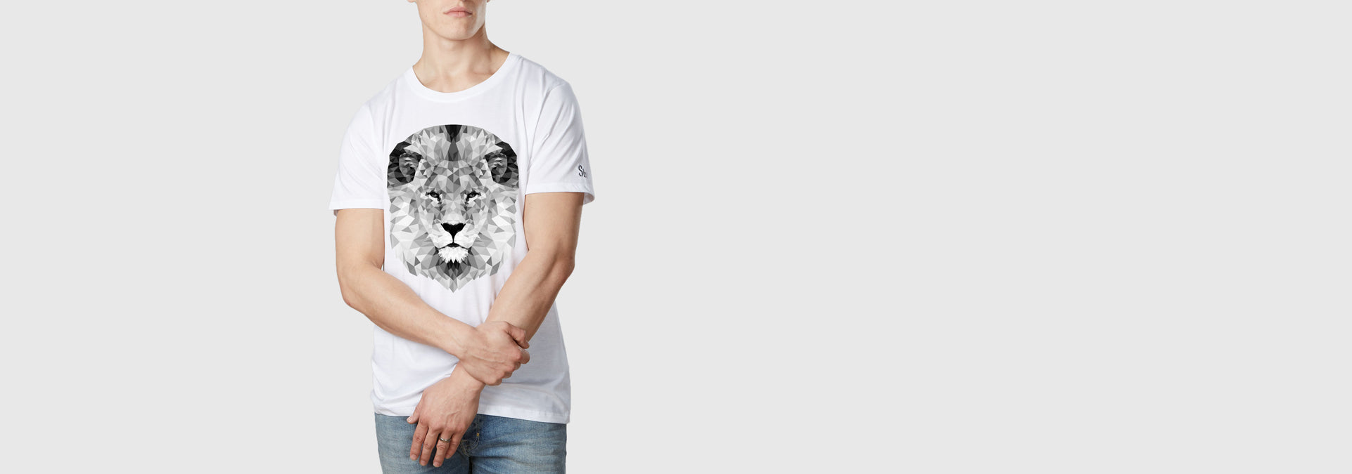 Mono Lion Organic Cotton T-Shirt White